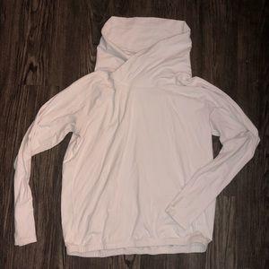 Lululemon cowl neck white pullover